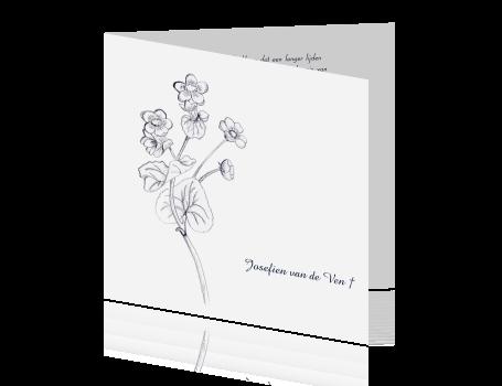 51330bbe34d ... Mooie rouwkaart met tekening van bloemen ...