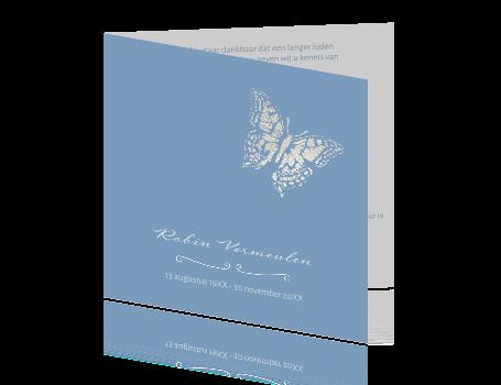 63ff224334a Rouwkaart met vlinder van zilver